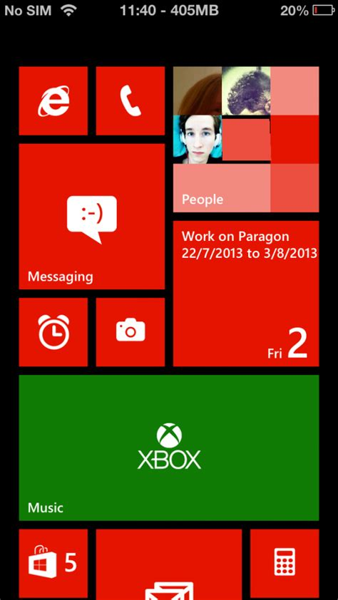 themes windows iphone paragon one of the best windows phone 8 themes for ios