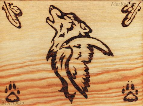 wolf and raven wood burning by morrokko on deviantart