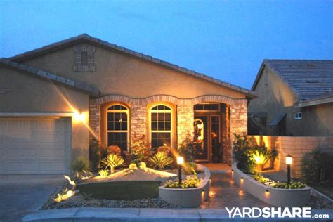 front yard l post landscaping ideas gt oasis in the desert yardshare com