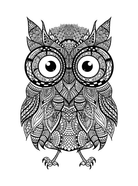 intricate owl coloring pages hey everyone check out this awesome intricate owl for