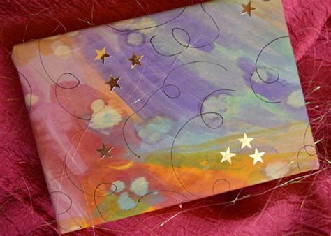 large christmas art projects expressive gift wrap allfreekidscrafts