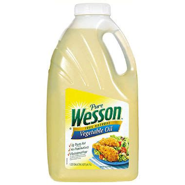 wesson pure vegetable oil (5 qts.) sam's club