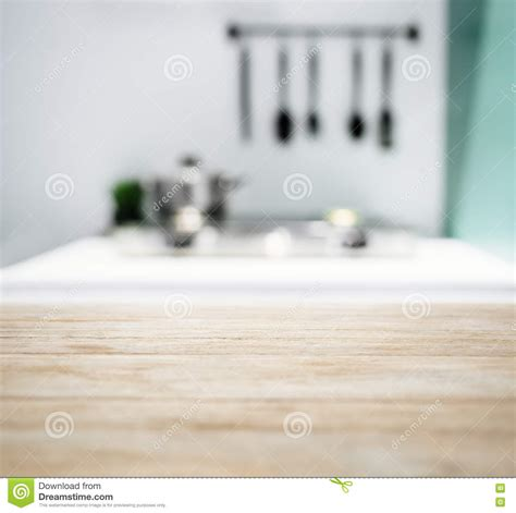 Kitchen Counter Background Table Top With Blurred Kitchen Counter Home Interior