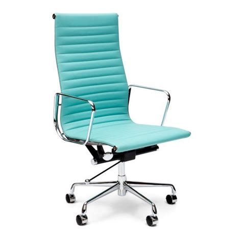 charles and eames turquoise ribbed office chair