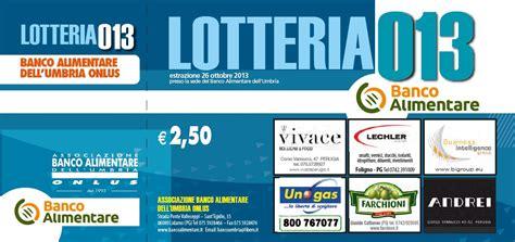 banco alimentare umbria estrazione biglietti vincenti lotteria banco 2013 banco