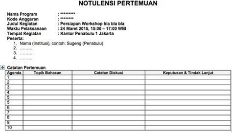 Contoh Hasil Notulen Rapat Dinas by Penjelasan Dan Contoh Notulen Rapat Terlengkap Bahasa