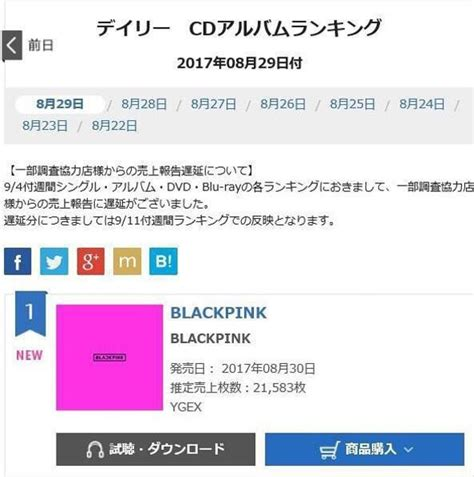 blackpink album sales sbs star blackpink sweeps japanese music charts with its