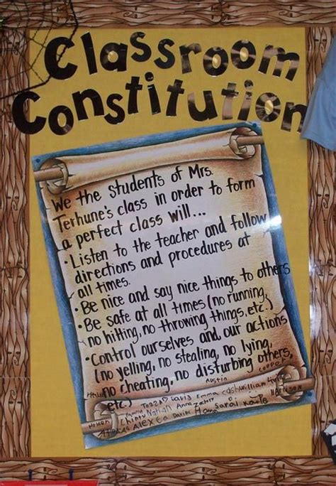 class constitution template 4th grade picmia