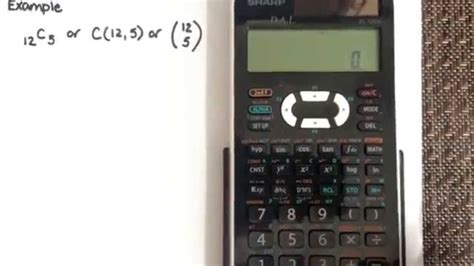 calculator ncr combination using the calculator sharp el 520x youtube