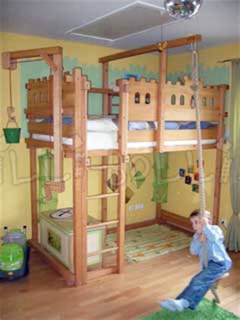 Bunk Bed With Swing Loft Bed Adjustable By Age Billi Bolli Furniture