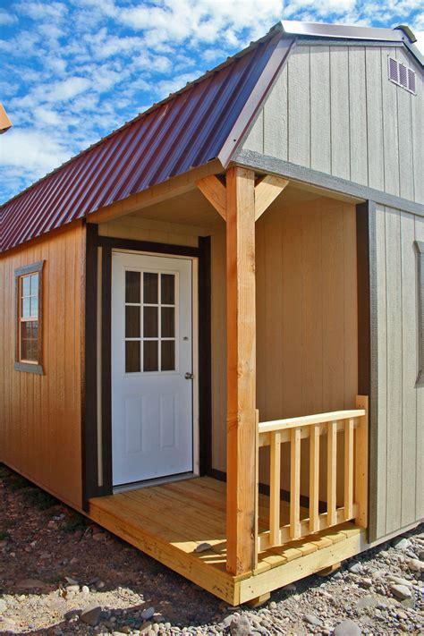 side lofted barn cabin cumberland buildings sheds