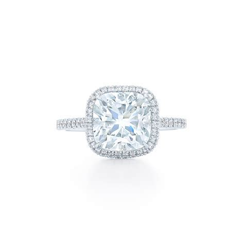 Cushion solitaire diamond engagement ring   DK Gems
