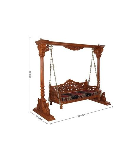 jhula swing buy indian indoor traditional swing from teak wood online