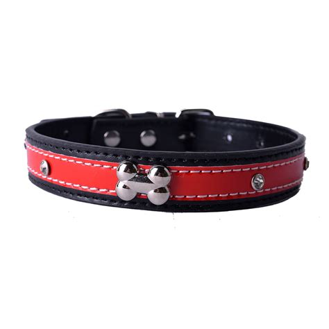 pet products for dogs personalized studded reflective collar pu leather collars for dogs