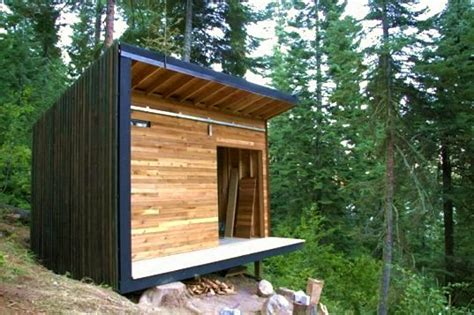 micro cabins the signal shed a modern and micro prefab cabin signal