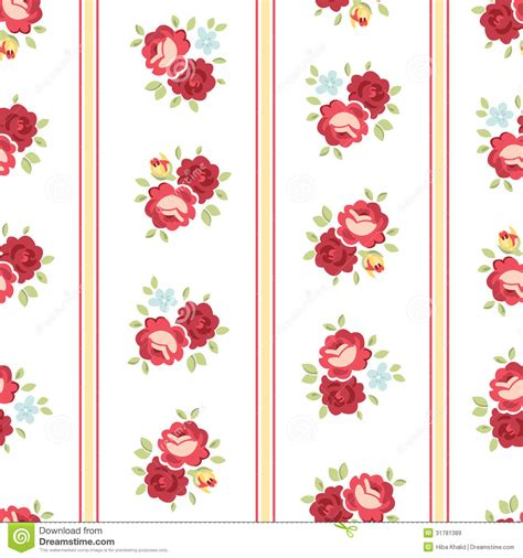 seamless shabby chic rose pattern royalty free stock
