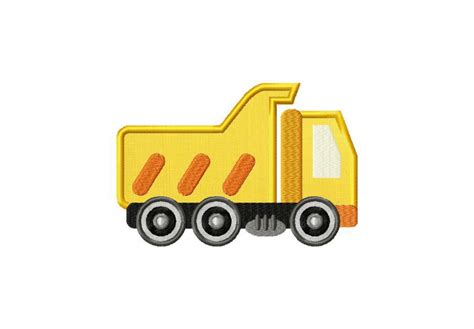 Dump Truck Applique Machine Embroidery by Construction Dump Truck Machine Embroidery Design Includes
