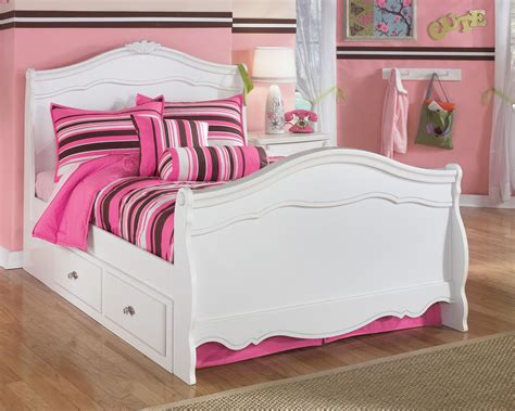 ashley furniture bed with storage signature design by ashley exquisite full sleigh bed with