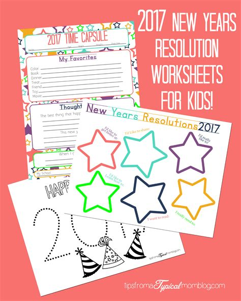 new year 2015 children s facts new years resolution time capsule worksheets and