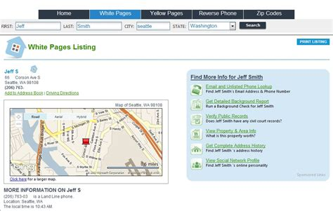 Address Directory Lookup White Pages Lookup Address