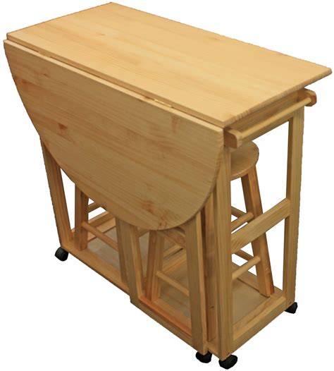 Folding Bar Table And Stools by Maribelle Folding Table And Stool Set Kitchen Breakfast
