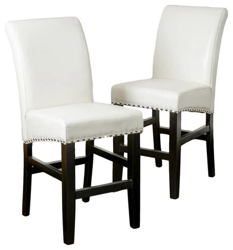 Ivory Leather Counter Stools by Clifton Leather Counter Stool Set Of 2 Ivory