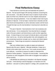 Reflective Essay by Reflections Essay