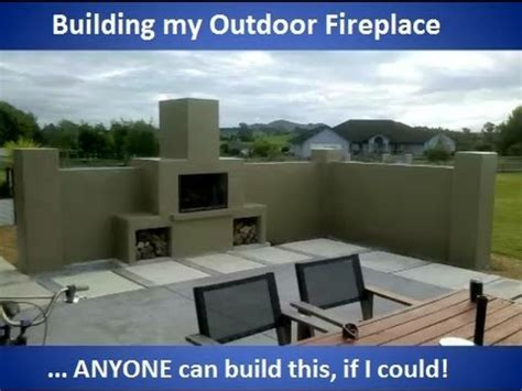 building a outdoor fireplace building my outdoor fireplace with commentary