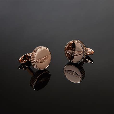 rose gold aston aston martin logo cufflinks rose gold aston martin
