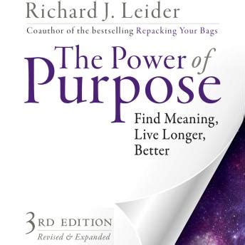 aligning with the finding your power and purpose through self awareness and self books listen to power of purpose find meaning live longer