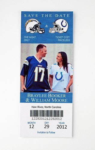 cowboys chargers tickets chargers cowboys wedding save the date ticket