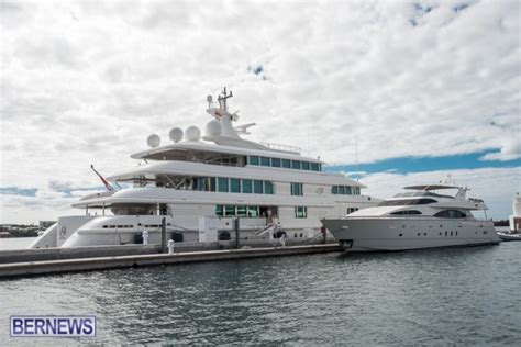 boat lady marina owner photos 70 million super yacht back in bermuda bernews