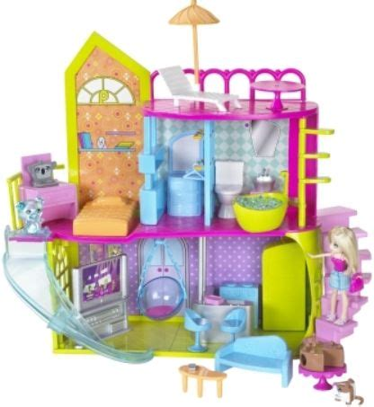 polly pocket doll house mattel t4251 polly pocket pollyworld house includes polly doll and three cutants