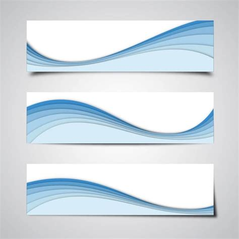 wave pattern corel 3 abstract banners with blue waves vector download