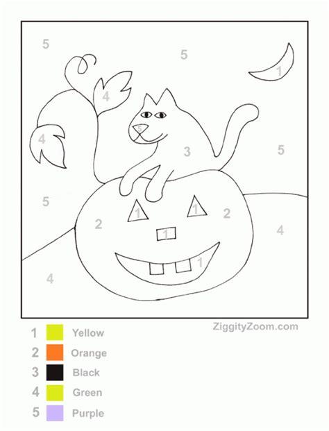 free printable preschool worksheets halloween free halloween pumpkin color by number printable ziggity