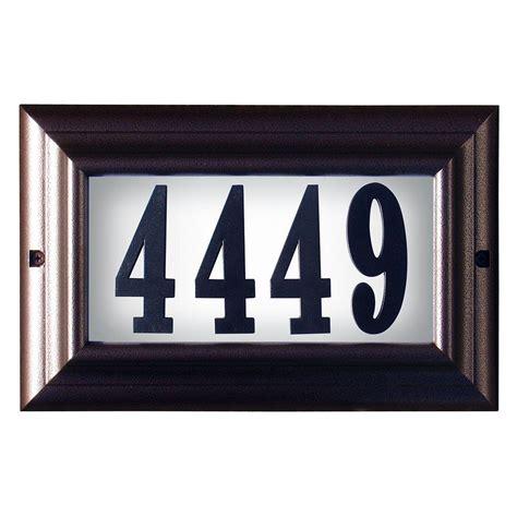 led lighted address signs qualarc edgewood large aluminum lighted address plaque ltl