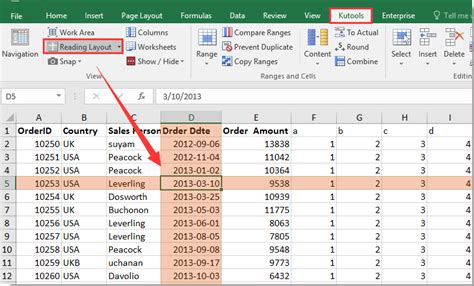 reading layout excel how to change border color of active cell in excel