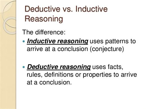 deductive pattern paragraph exles inductive deductive and fallacies