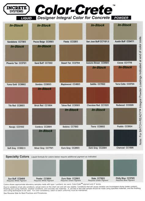 brickform color chart sting colors cary masonry 919 704 5318 raleigh nc