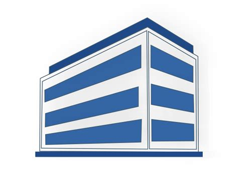building clipart white and blue office building clip at clker
