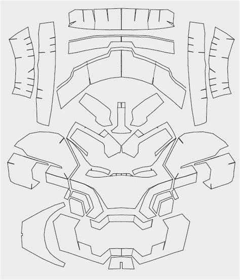 the gallery for gt iron man helmet template cardboard