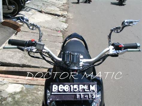 Custom Motor Murah Dudukan Stang Stang Jepit Model Robot Matik Dan Be doctor matic klinik spesialis motor matic mio soul hitam stang ban lebar