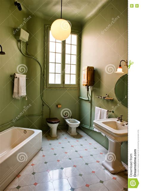 retro bathroom  casa mila barcelona spain