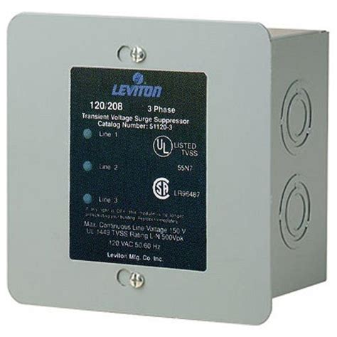 Surge Arrester Valvetrab F Ms12st 1 Phase leviton 120 208 volt 3 phase wye surge protector panel 51120 003 the home depot