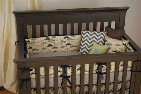 vintage car crib bedding vintage car fabric with chevron crib bedding
