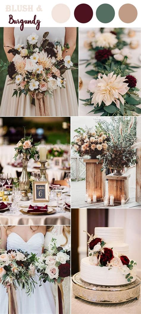 wedding colour themes autumn and winter weddings the 10 perfect fall wedding color combos to steal in 2018