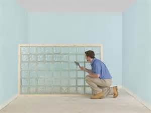 how to build a glass block partition or wall diy