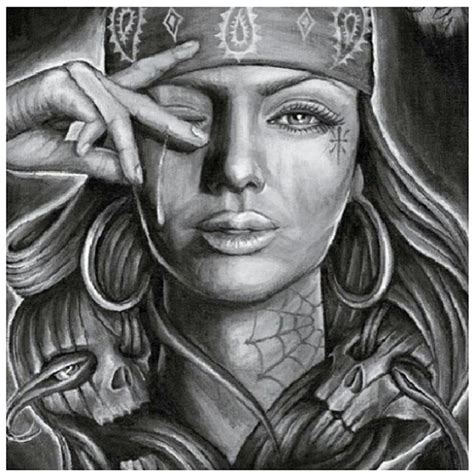chicano tattoo drawing photo 2 real photo