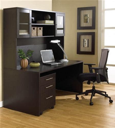 Modern Espresso Desk 63 Quot Modern Espresso Desk With Hutch Mobile Pedestal Officedesk