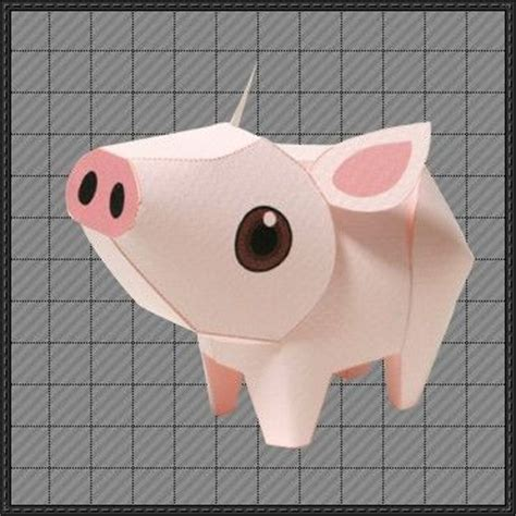 Pig Papercraft - new paper model animal paper model a pig free paper